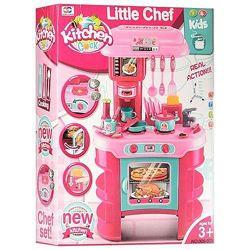 008-908 А Кухня игровая с посудкой,  красная и розовая