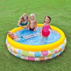 Надувной бассейн 58449 детский Intex 168х38см Интекс