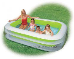 Бассейн 56483 детский надувной Intex Интекс прямоугольный, басейн