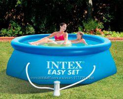 28112 Бассейн Intex с насосом фильтром 244х76 см