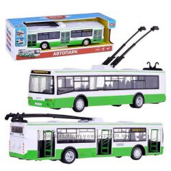 Троллейбус автобус 9690 инерционный. Звук. Автопром . два вида