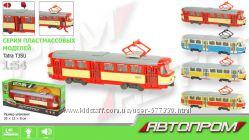 9708 Трамвай инерционный. модель, звук, свет, открываются двери. 4 вида