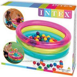 48674 бассейн с шариками intex  интекс