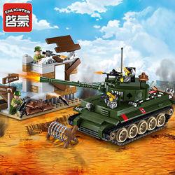 1711 Конструктор Военный танк enlighten Brick