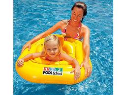 56587 и 56588 Надувной круг плотик Учимся плавать Intex