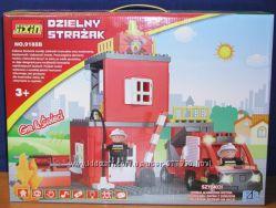 Конструктор 9188В Пожарная станция, пожарка 9188