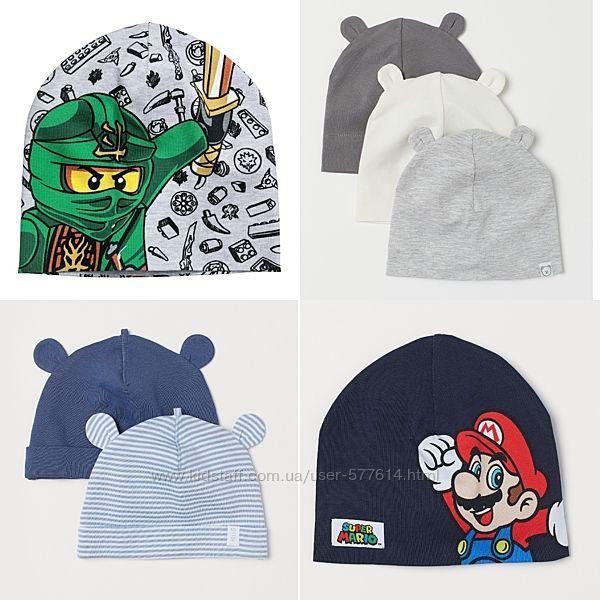 Деми шапка HM мальчику 6-9мес,1-2,2-4,3-4года