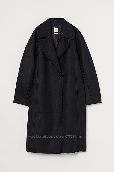 Пальто HM 100процентная  шерсть  евро 40/анг12 большемерит