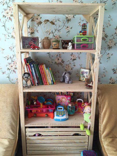 Стеллаж-этажерка деревянный разные