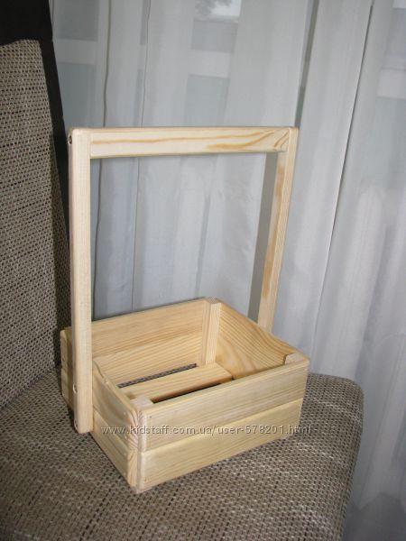 Ящик деревянный кашпо для цветов, вазонов, косметики, подарков, сувениров