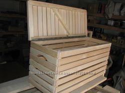 Сундучок деревянный с крышкой