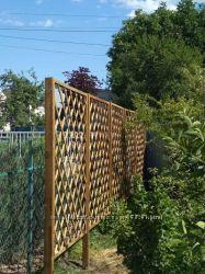 Решетка-заборчик деревянная
