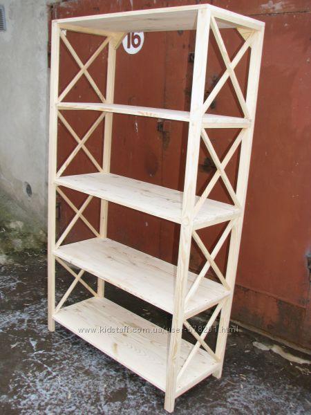 Стеллаж деревянный 5 полок
