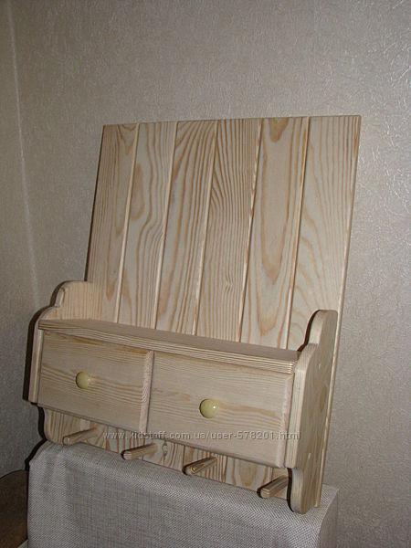 Настенная деревянная полка