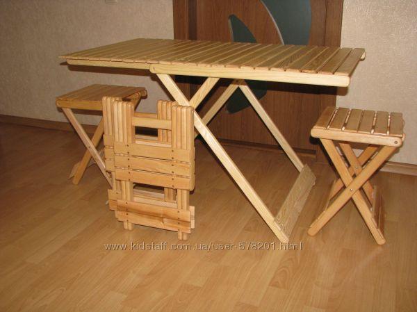 Туристическая деревянная раскладная мебель