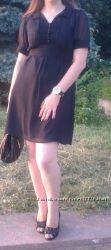 Черное офисное шифоновое платье atmosphere