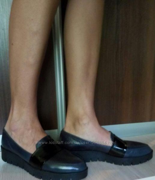 Модные лоферы туфли 39 кожа 25.8-26см