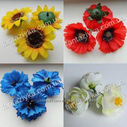 Купить искусственные цветы, головки цветов, добавки к букетам