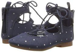 OSHKOSH туфли девочке, удобные балетки на шнуровке 14, 5см.