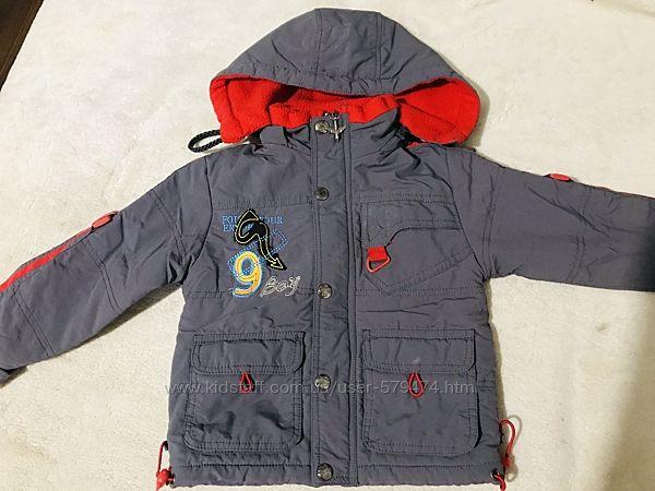 Куртка ветровка на флисе