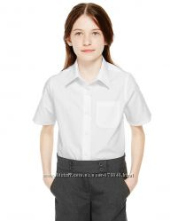 Блузки рубашки школа MARKS&SPENCER  Plus для полненькой 164см