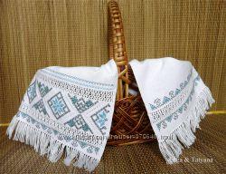 Пасхальная салфетка ручная вышивка