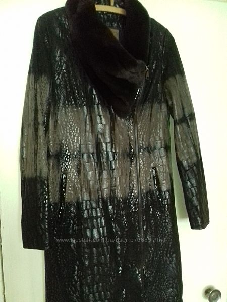 Женское пальто натуральная кожа 48 размер