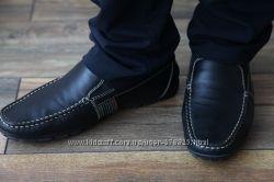 Стильные кожаные туфли-мокасины Geox