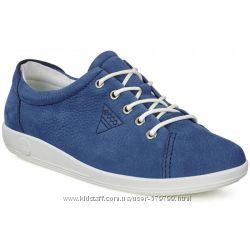 Кроссовки голубого цвета Ecco Soft 2. 0 206503-02048