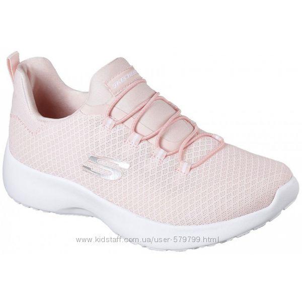 Светлые женские кроссовки в сеточку на лето Skechers 12119-LTPK