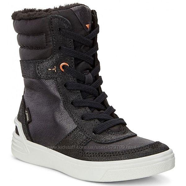 Детские высокие ботинки на меху Ecco Ginnie 736642-51707