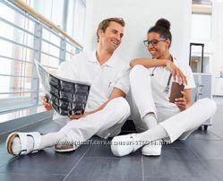 Белые медецинские  мужские брюки от немецкой фирмы JobStyle
