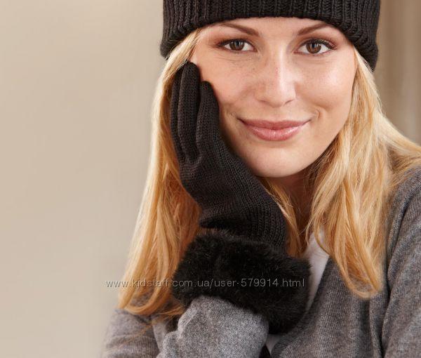 Трикотажные перчатки с мягкой меховой отделкой. от ТСМ ЧИБО
