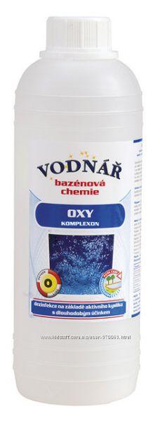Дезинфектор Оксикомплекс перекись водорода химия для бассейнов Vodnar