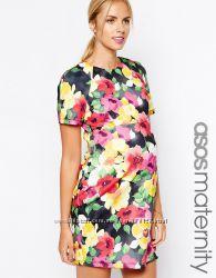 Платье в цветочный принт для беременных ASOS Maternity