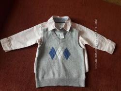 Carter&acutes рубашка с жилеткой 12 мес
