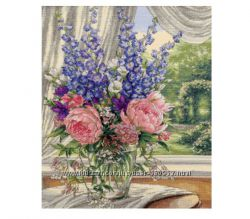 Набор для вышивки Dimensions Peonies And Delphiniums