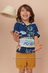 фирменная рубашка H&M на 6-7лет, вискоза