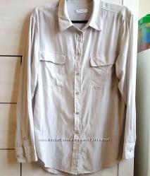 фирменная рубашка-туника, натуральный шелк