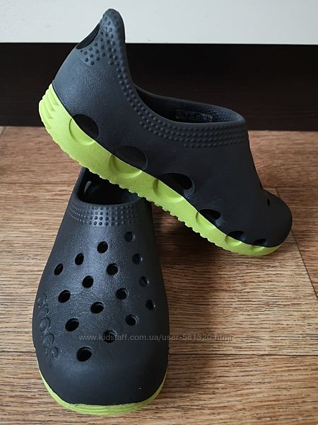 кроксы мокасины аквашузы Crocs, р. С12, стелька 19 см. Состояние отличное.