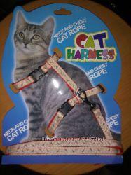 Шлейка и поводок для собак мелких пород или котов  кошек