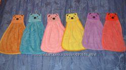 Детское полотенце для рук с забавными зверушками, много расцветок