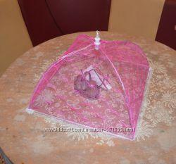 Сетка-зонтик на стол от мух и других насекомых