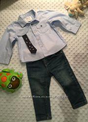 Chicco джинсиускачисорочка-рубашка