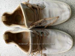 Льняные летние туфли на шнурках Зара