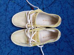 Летние хлопковые мокасины на шнурках Зара