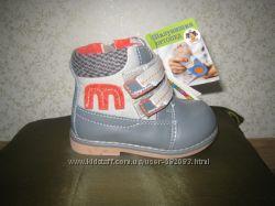 Демисезонные ботинки для мальчика ТМ Шалунишка ортопед 20 р