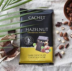 Темный шоколад с фундуком, 300 грамм. TM Cachet
