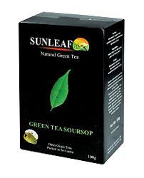 Зеленый чай с саусепом из Шри-Ланки от Sun Leaf, 100 грамм