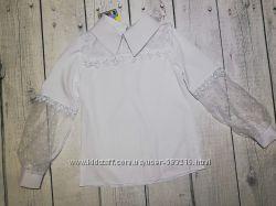Блузка на дівчинку біла з 6 до 10 років
